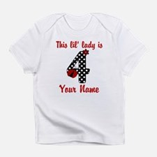 4th Birthday Ladybug Infant T-Shirt