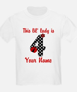 4th Birthday Ladybug T-Shirt