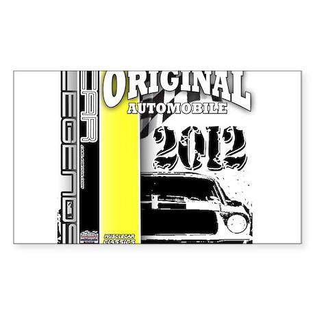 Original Muscle Car Yellow Sticker (Rectangle 50 p