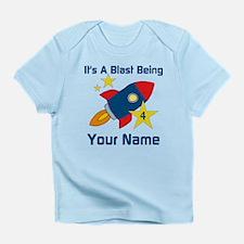 4th Birthday Rocket Infant T-Shirt