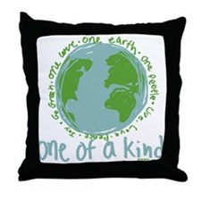 One Earth Throw Pillow