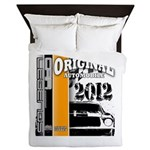 Original Muscle Car Orange Queen Duvet