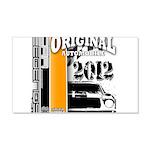 Original Muscle Car Orange 22x14 Wall Peel