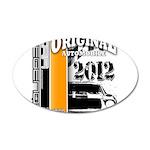 Original Muscle Car Orange 22x14 Oval Wall Peel