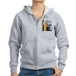 Original Muscle Car Orange Women's Zip Hoodie