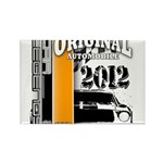 Original Muscle Car Orange Rectangle Magnet