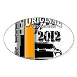 Original Muscle Car Orange Sticker (Oval)