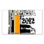 Original Muscle Car Orange Sticker (Rectangle)
