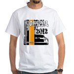 Original Muscle Car Orange White T-Shirt