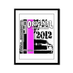Original Muscle Car Pink Framed Panel Print