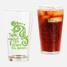 Green Footprint Drinking Glass