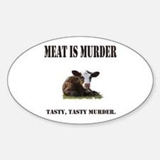 Meat is murder. Decal