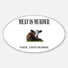 Meat is murder. Sticker (Oval)