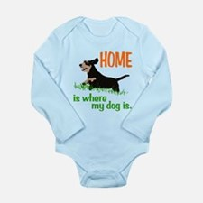 Home is where Long Sleeve Infant Bodysuit