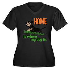 Home is where Women's Plus Size V-Neck Dark T-Shir