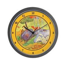 Rural France, Gauguin Wall Clock