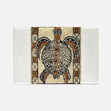 Tapa Turtle Rectangle Magnet