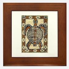 Tapa Turtle Framed Tile