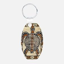 Tapa Turtle Keychains