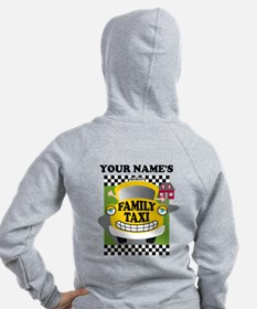 Personalized Family Taxi Zip Hoodie