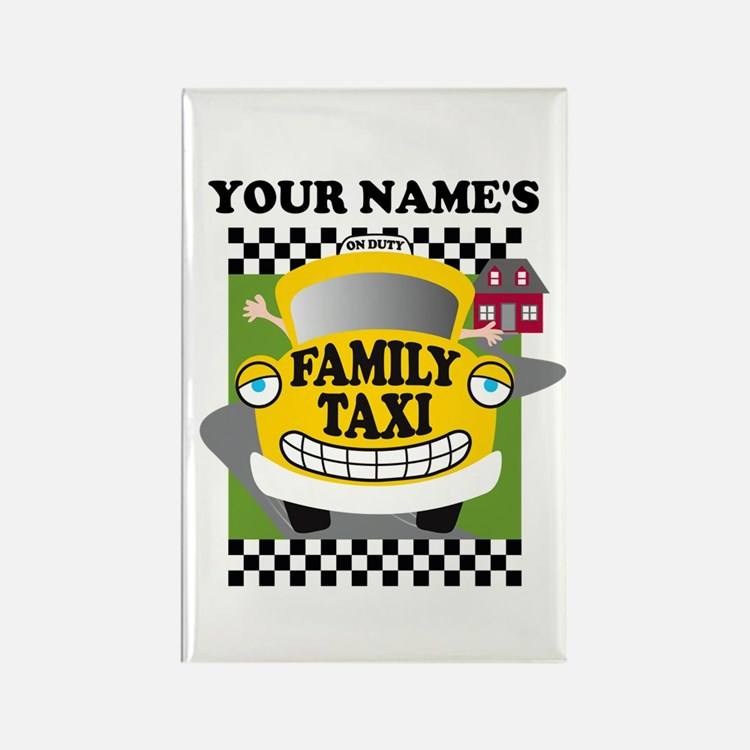 Personalized Family Taxi Rectangle Magnet