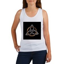 Cute Triquetra celtic knot trinity symbol three triangl Women's Tank Top