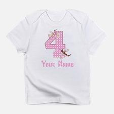 4th Birthday Dragonfly Infant T-Shirt
