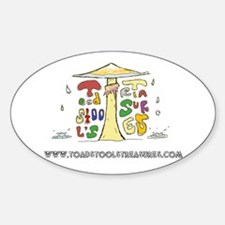 Toadstool's Treasures Rain Decal