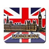 London thames river Classic Mousepad