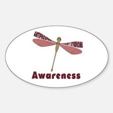 Worded Wings Dragonfly Sticker (Oval)