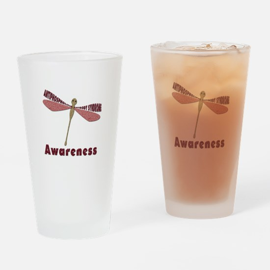 Worded Wings Dragonfly Drinking Glass