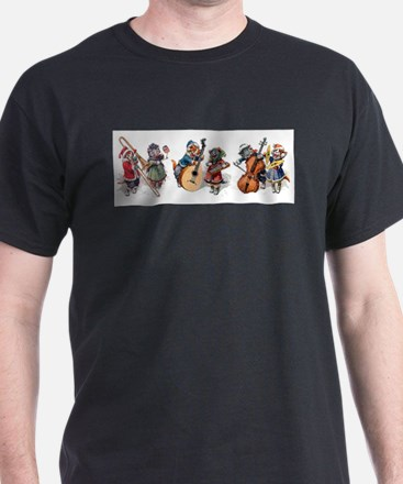 Jazz Cats In the Snow T-Shirt