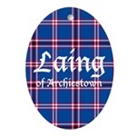 Tartan - Laing of Archiestown Ornament (Oval)