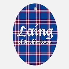 Tartan - Laing of Archiestown Ornament (Oval)