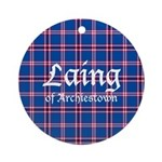 Tartan - Laing of Archiestown Ornament (Round)