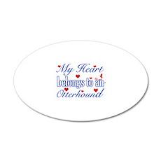 Otterhound Dog Designs 22x14 Oval Wall Peel