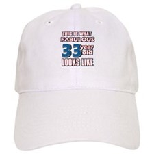 Cool 33 year old birthday designs Baseball Cap