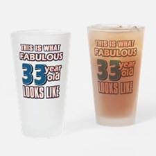 Cool 33 year old birthday designs Drinking Glass