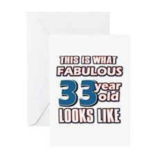 Cool 33 year old birthday designs Greeting Card
