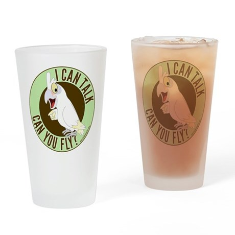 ICT,CYF Bare Eyed Cockatoo Drinking Glass