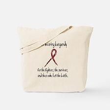 I Am Wearing Burgundy Tote Bag