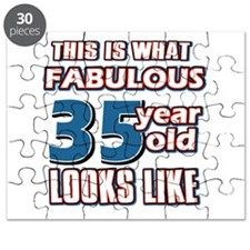 Cool 35 year old birthday designs Puzzle