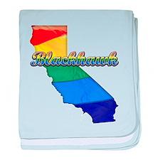 Blackhawk, California. Gay Pride baby blanket