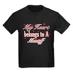 Mastiff Dog Designs Kids Dark T-Shirt