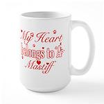 Mastiff Dog Designs Large Mug
