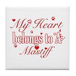 Mastiff Dog Designs Tile Coaster