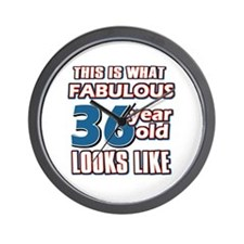 Cool 36 year old birthday designs Wall Clock