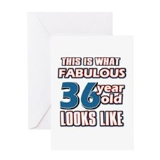 Cool 36 year old birthday designs Greeting Card