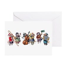 Jazz Cats In the Snow Greeting Cards (Pk of 20)