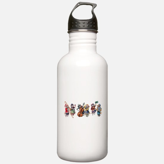 Jazz Cats In the Snow Water Bottle